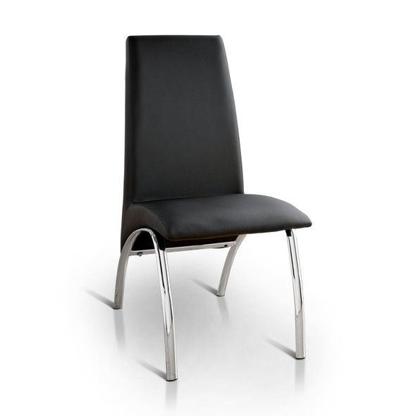 Bectel Contemporary Padded Side Chairs in Black (Set of 2)