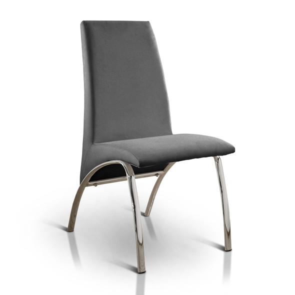 Bectel Contemporary Padded Side Chairs in Gray (Set of 2)