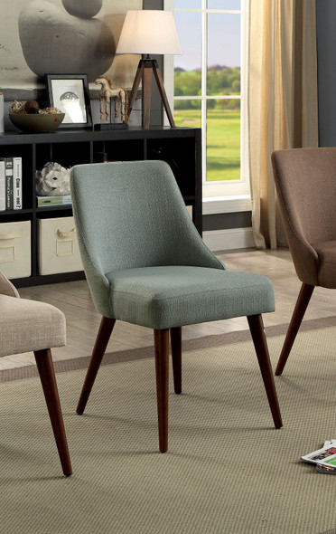 Colmar Mid-Century Modern Upholstered Side Chairs (Set of 2)