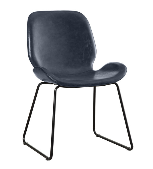 Etinne Contemporary Curved Accent Chair in Dark Gray