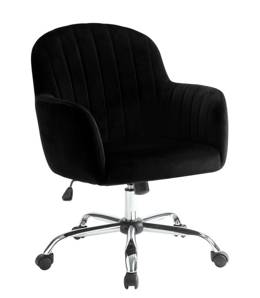 Annecy Contemporary Tufted Office Chair in Black