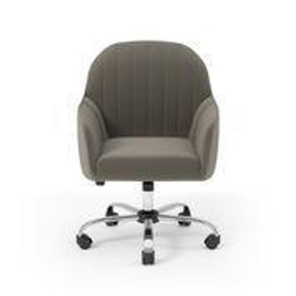 Annecy Contemporary Tufted Office Chair in Brown