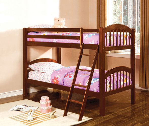Thurmont Cottage Solid Wood Bunk Bed in Cherry