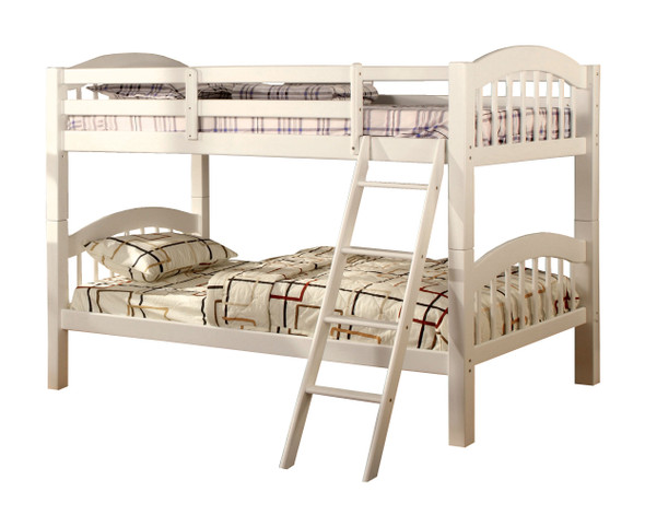 Thurmont Cottage Solid Wood Bunk Bed in White