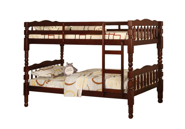 Hilmin Cottage Solid Wood Bunk Bed in Cherry