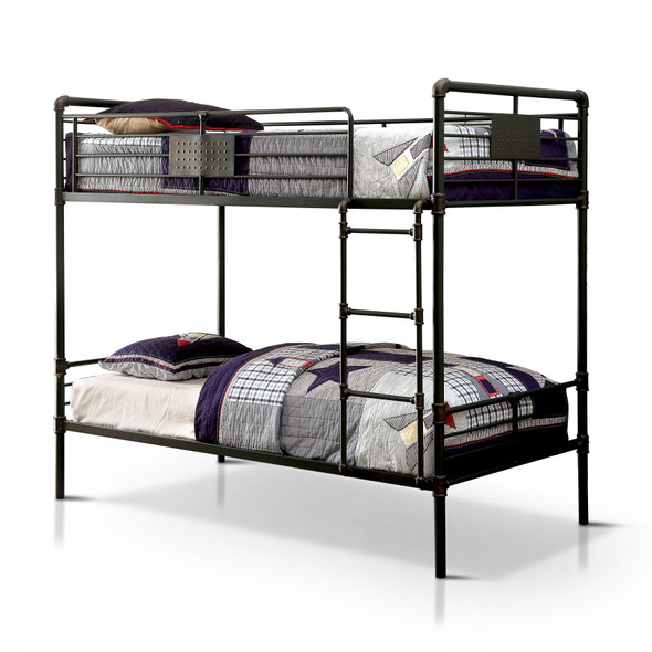 Dillon Industrial Bunk Bed in Full over Full