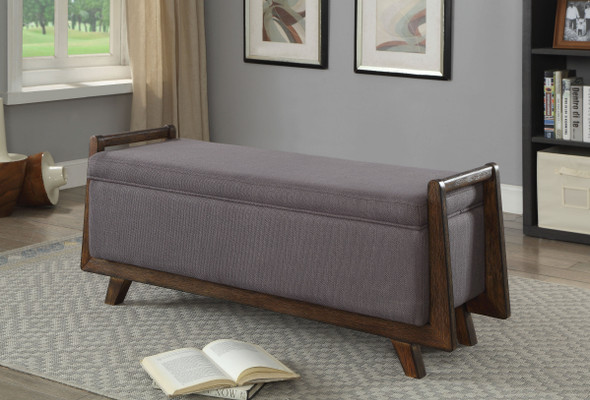 Le Mans Contemporary Storage Bench in Gray