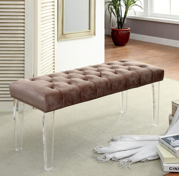Windry Contemporary Button Tufted Bench