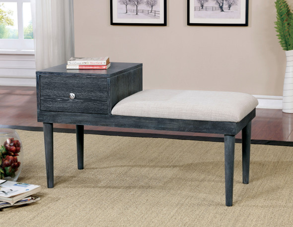 Bethal Mid-Century Modern 1-Drawer Accent Bench