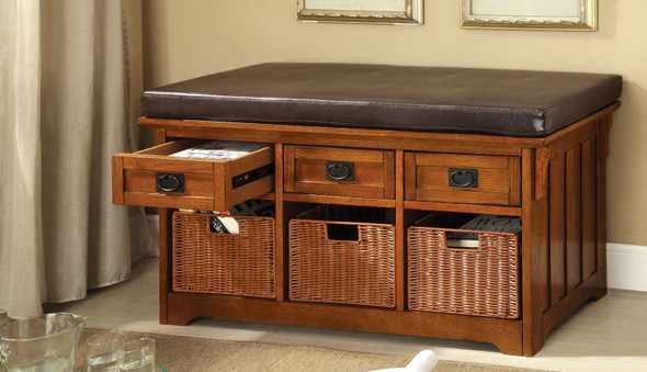Lucia Transitional Storage Bench