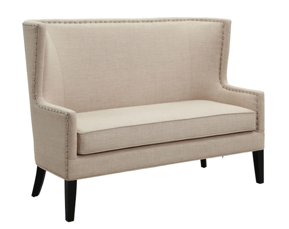 Antibes Contemporary Upholstered Loveseat Bench