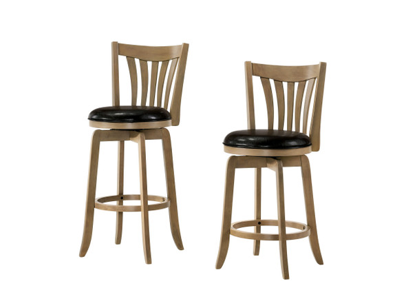Edward Transitional Padded 24-Inch Bar Stool in Maple