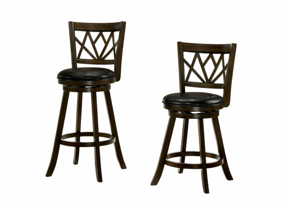 Alyssa Transitional Padded 29-Inch Bar Stool in Brown Cherry