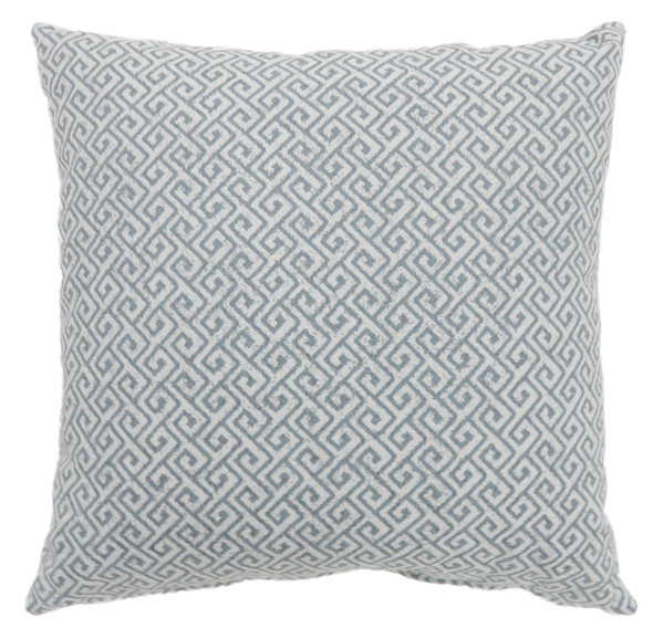 """Jada Contemporary 22""""x22"""" Polyester Pillows in Blue (Set of 2)"""