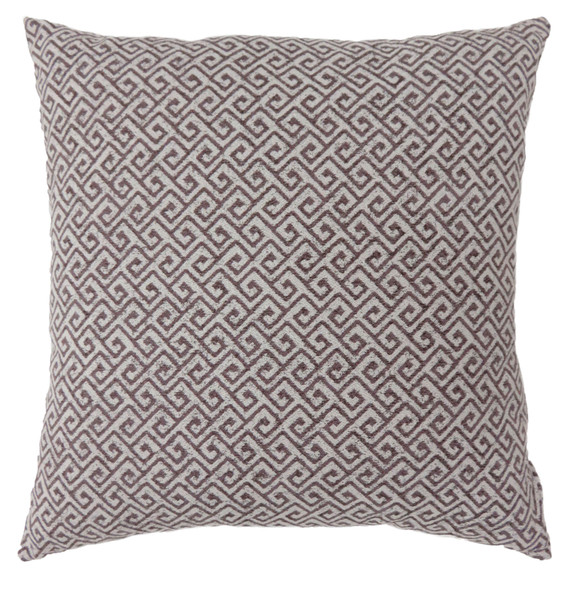 """Jada Contemporary 18""""x18"""" Polyester Pillows in Brown (Set of 2)"""