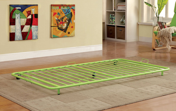 Melikin Contemporary Metal Trundle in Apple Green