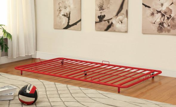 Melikin Contemporary Metal Trundle in Red