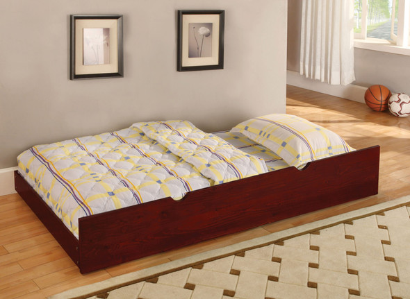 Joseph Transitional Solid Wood Trundle in Cherry