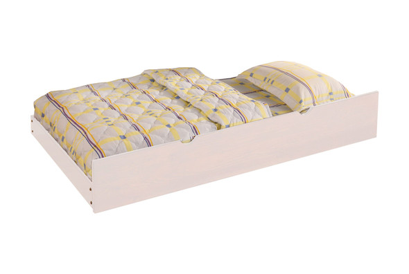 Joseph Transitional Solid Wood Trundle in White