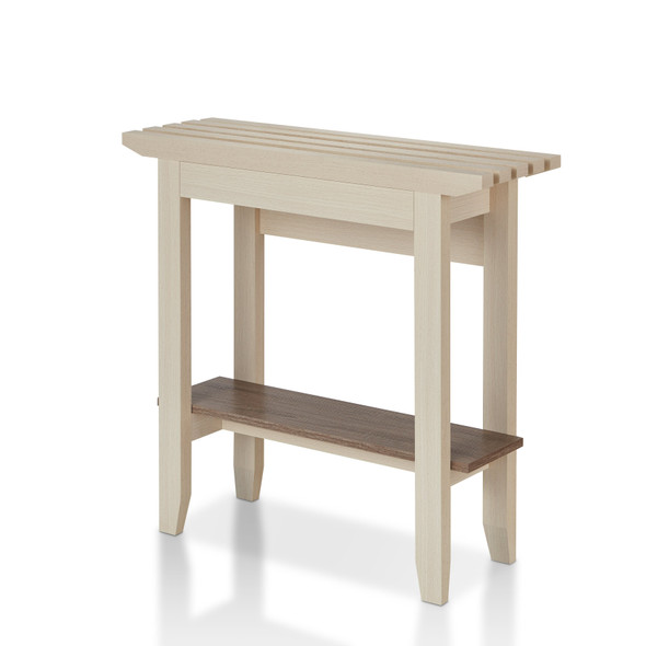 Morrissey Contemporary Open Storage Console Table