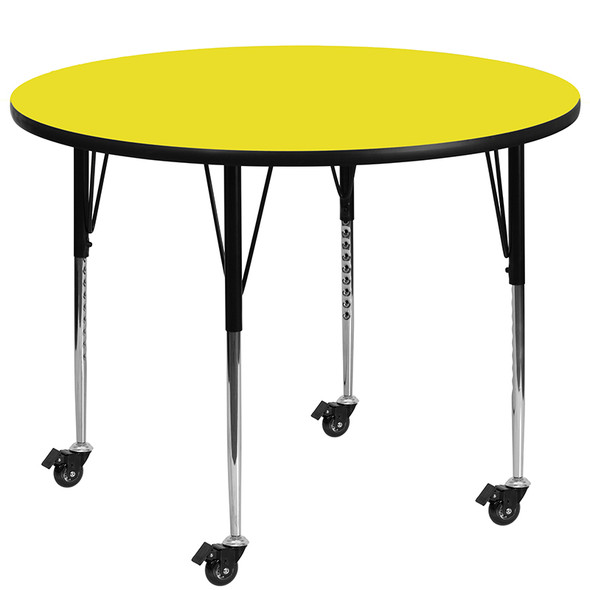 48 Rnd Red Activity Table - FLXU-A48-RND-RED-H-P-GG