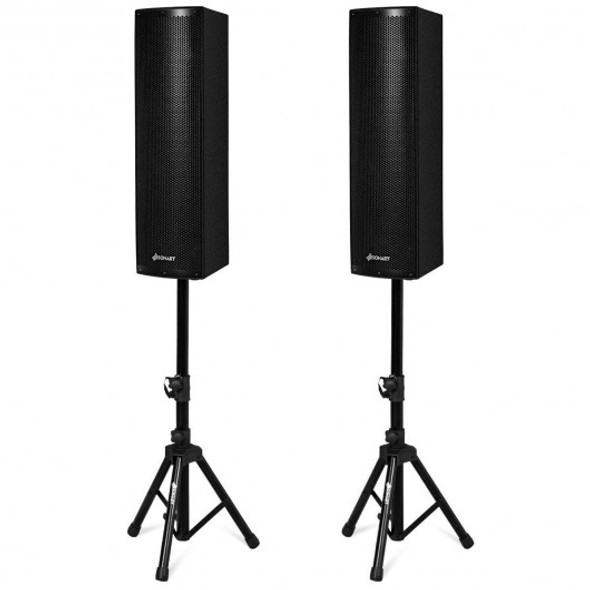 2000W Set of 2 Bi-Amplified Bluetooth Speakers with USB/SD Card Input