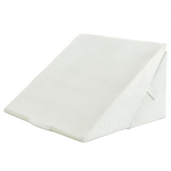 Adjustable Memory Foam Reading Sleep Back Support Pillow-White