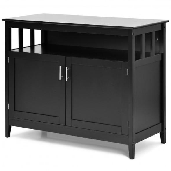 Modern Wooden Kitchen Storage Cabinet -Black
