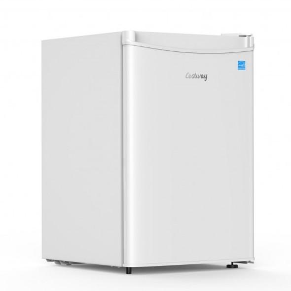 2.5 Cu Ft Compact Single Door Refrigerator with Freezer-White