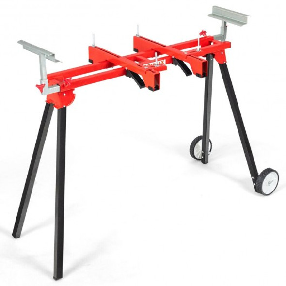 Folding Miter Saw Stand with Heavy Duty Saw Frame-Red