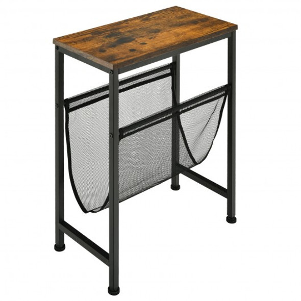 Narrow  Sling Industrial Accent Console Table