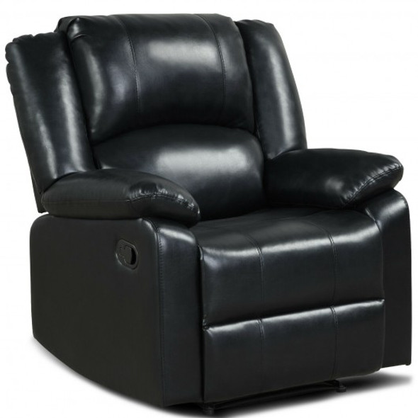 Recliner Chair Lounger Single Sofa for Home Theater Seating with Footrest Armrest-Black