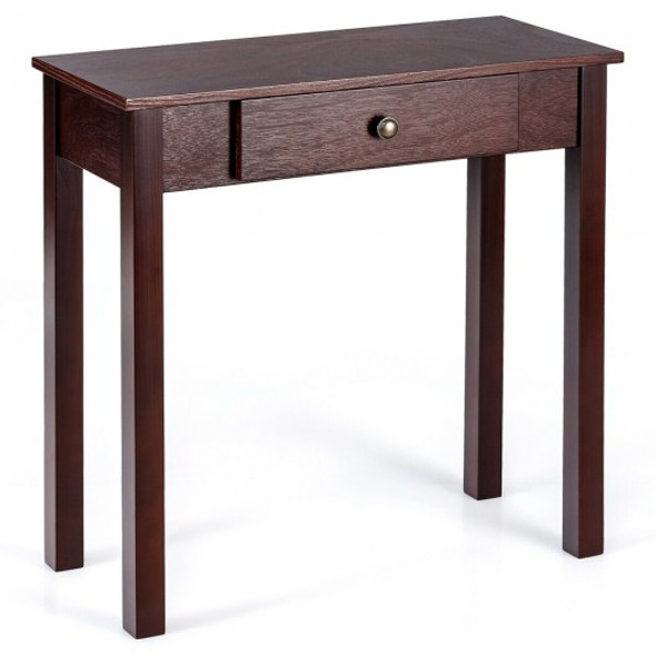 Small Space Console Table with Drawer for Living Room Bathroom Hallway-Espresso