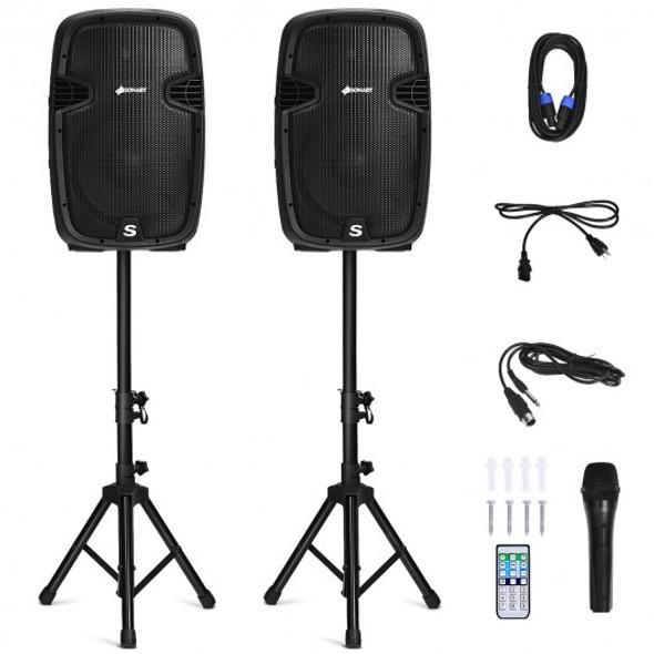 "12"" Dual 2-Way 1600 W Powered PA Speaker System"