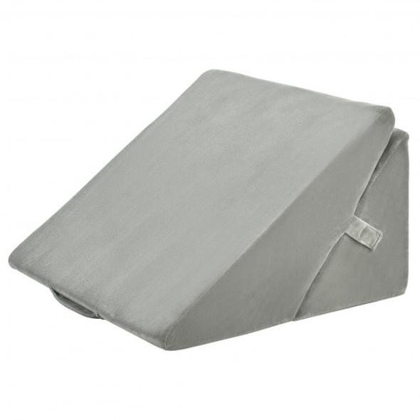 Adjustable Memory Foam Reading Sleep Back Support Pillow-Gray