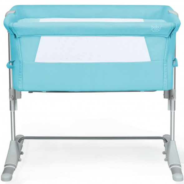 Travel Portable Baby Bed Side Sleeper  Bassinet Crib with Carrying Bag-Green