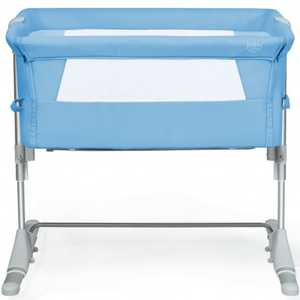 Travel Portable Baby Bed Side Sleeper  Bassinet Crib with Carrying Bag-Blue