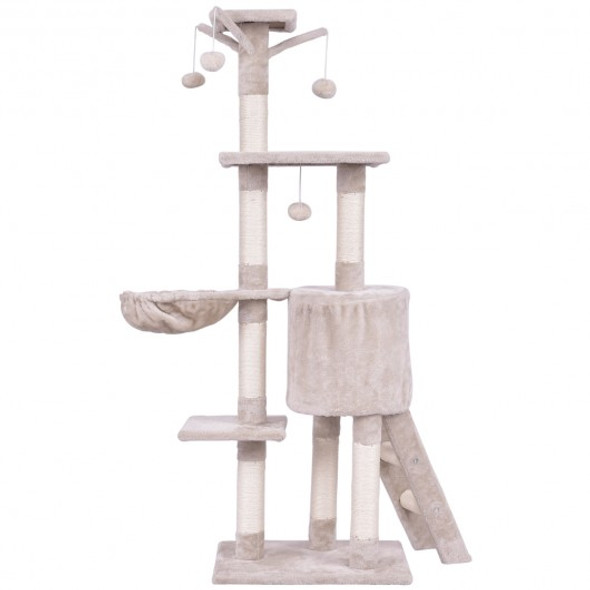 """56"""" Condo Scratching Posts Ladder Cat Play Tree - COPS7389BE"""