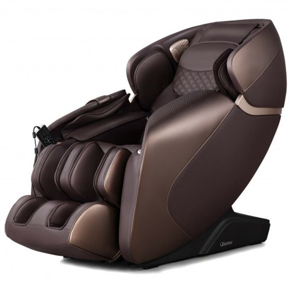 Full Body Zero Gravity Massage Chair Recliner with SL Track Bluetooth Heat-Brown