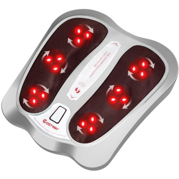 Shiatsu Heated Electric Kneading Foot and Back Massager-Silver