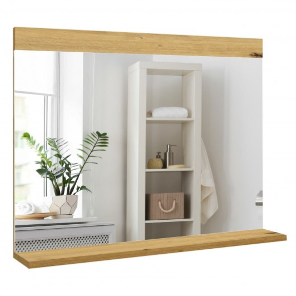 Wall Mirror with Storage Shelf Made in Italy