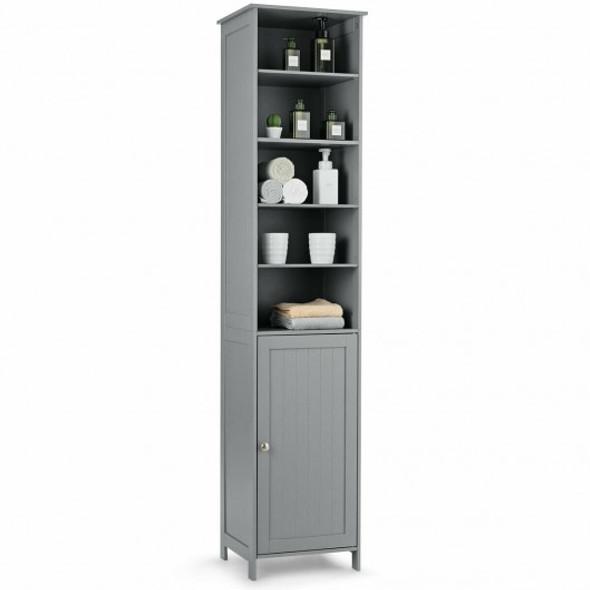 72'' Free Standing Tall Floor Bathroom Storage Cabinet-Gray - COHW66093GR