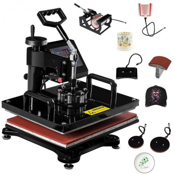 6 in 1 Digital Transfer Heat Press Machine
