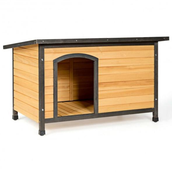 Wood Extreme Weather Resistant Pet Log Cabin-L