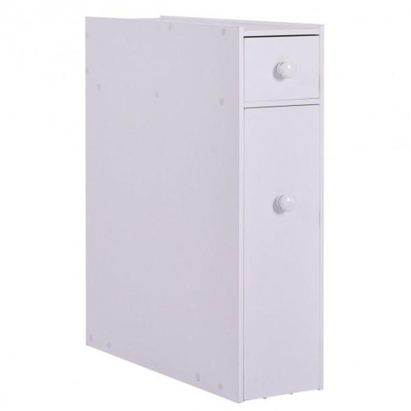 White Bathroom Cabinet Space Saver Storage Organizer - COHW53995WH