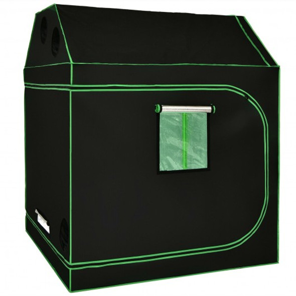 Mylar Hydroponic Grow Tent Roof Cube with Zipped Doors  Observation Windows and Vents -60 x 60 x 72 inch