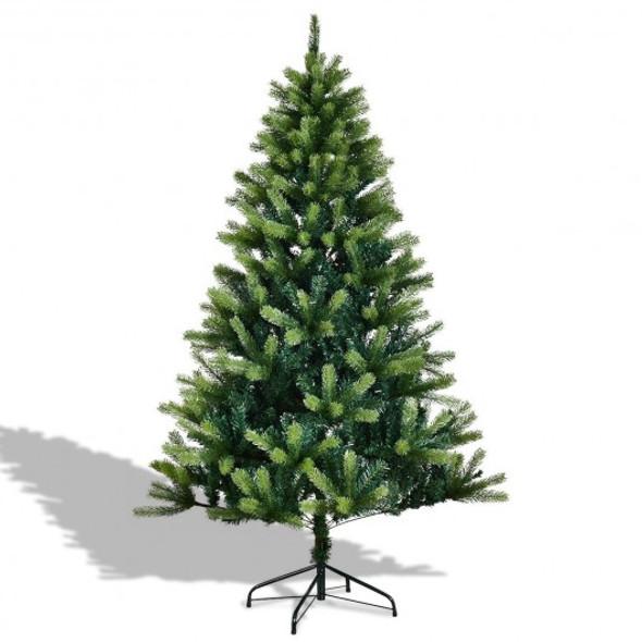 6' / 7' Artificial Christmas Tree w/ Solid Metal Legs-5'
