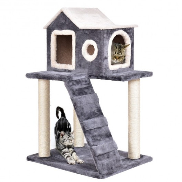 """36"""" Tower Condo Scratching Posts Ladder Cat Tree - COPS7388"""
