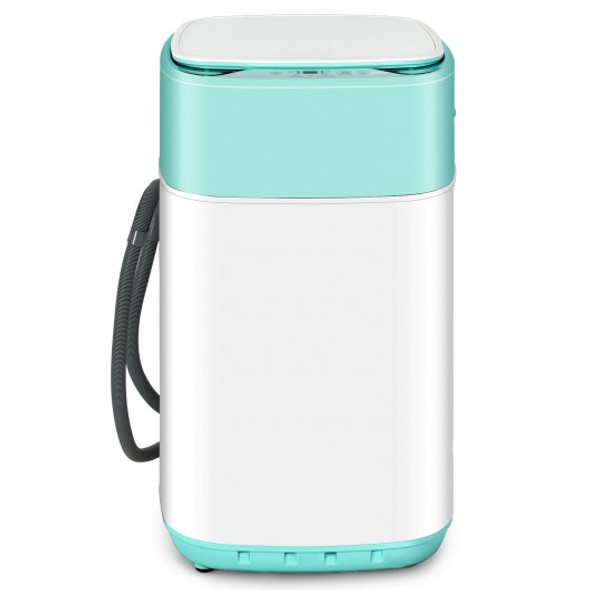 8lbs Portable Fully Automatic Washing Machine with Drain Pump-Green