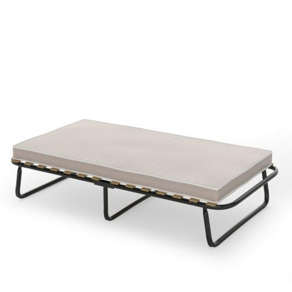 Folding Bed with Memory Foam Mattress Metal Guest Sleeper